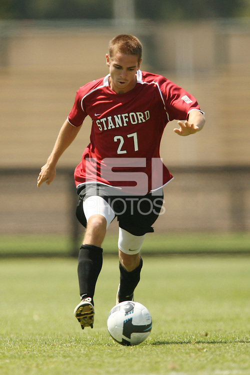 STANFORD, CA - AUGUST 20:  Garrett Gunther of the Stanford Cardinal during Stanford's 0-0 tie with Sonoma State on August 20, 2009 in Stanford, California.