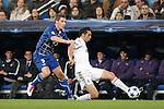 Real Madrid's Alvaro Arbeloa and Auxerre's Valter Birsa during Champions League match on december 8th 2010...Photo: Cesar Cebolla / ALFAQUI