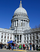 Opening day of the Dane County Farmer's Market on Saturday, April 20, 2013, in Madison, Wisconsin