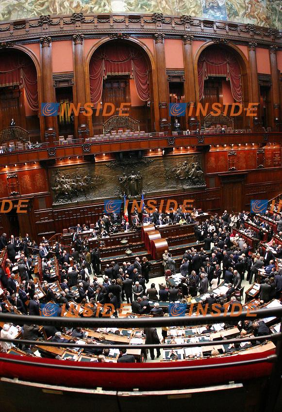 Roma 2006-05-08 Camera dei Deputati:All'ordine del giorno la prima votazione per l'elezione del Presidente della Repubblica<br /> Nella foto una veduta della Camera<br /> Photo Serena Cremaschi Insidefoto