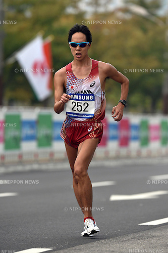 Yusuke Suzuki (JPN), SEPTEMBER 28, 2014 - Athletics : Men's 20km Race walk at Race Walking Course during the 2014 Incheon Asian Games in Incheon, South Korea. (Photo by Takashi OKUI/AFLO)