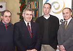 """James Darby, (Left) Darby Engineering, Dunleer with Niall Pelly, Flair International, Bailieboro, Donnagh McCarthy, Innovative Products, Drogheda and Gerry Murphy, Executive Director, Enterprise Ireland at the Enterprise Ireland """"E Business"""" Seminar held in the Fairways Hotel."""