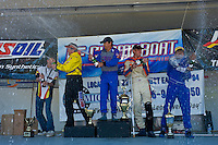 8-10 August 2008  Algonac, MI USA.F1 Podium (L to R): Terry Rinker (2nd), Tim Seebold (1st) and Chris Fairchild (3rd) and Khunjeng Nithas spray the champange..©F.Peirce Williams 2008
