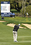 JEJU, SOUTH KOREA - APRIL 24:  Marcus Fraser of Australia plays his approach shot on the 9th hole during the Round Two of the Ballantine's Championship at Pinx Golf Club on April 24, 2010 in Jeju island, South Korea.  Photo by Victor Fraile / The Power of Sport Images
