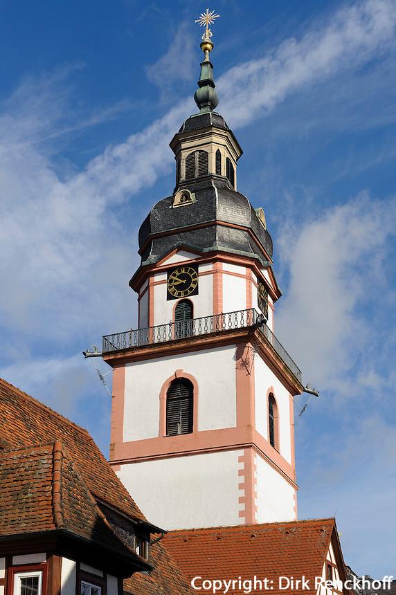 Evangelische Stadtkirche in Erbach im Odenwald, Hessen, Deutschland
