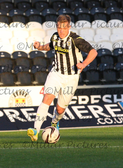 Kealan Dillon in the St Mirren v Rangers Scottish Professional Football League Under 20 match played at St Mirren Park, Paisley on 10.9.13.