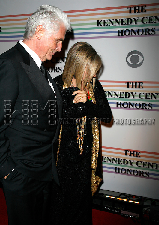 James Brolin &amp; Barbra Streisand<br /> arriving for The 31st Kennedy Center Honors at the Kennedy Center Hall of States in Washington, D.C. December 7, 2008