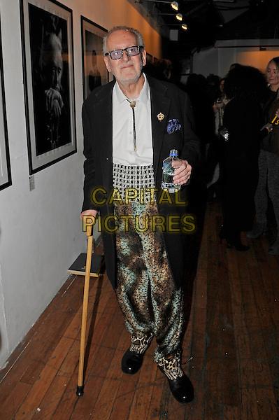 LONDON, ENGLAND - NOVEMBER 25: 'Legs' Larry Smith attending the 'Resonators' book launch at Proud Gallery, Camden on November 25, 2015 in London, England.<br /> CAP/MAR<br /> &copy; Martin Harris/Capital Pictures