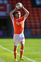 Blackpool's Oliver Turton takes a throw in<br /> <br /> Photographer Richard Martin-Roberts/CameraSport<br /> <br /> The EFL Sky Bet League One - Blackpool v Milton Keynes Dons - Saturday August 12th 2017 - Bloomfield Road - Blackpool<br /> <br /> World Copyright &copy; 2017 CameraSport. All rights reserved. 43 Linden Ave. Countesthorpe. Leicester. England. LE8 5PG - Tel: +44 (0) 116 277 4147 - admin@camerasport.com - www.camerasport.com