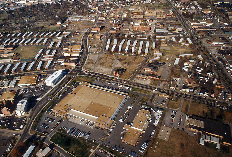 1987 December ..Redevelopment.Church Street..LOOKING NORTH.CHURCH STREET ON LEFT.POST OFFICE IN FRONT...NEG#.NRHA#..