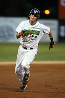 September 9 2008:  Brandon Turner of the Jamestown Jammers, Class-A affiliate of the Florida Marlins, during a game at Russell Diethrick Park in Jamestown, NY.  Photo by:  Mike Janes/Four Seam Images