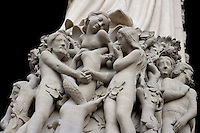 Garden of Eden (detail), Notre Dame de Paris, 1163 ? 1345, initiated by the bishop Maurice de Sully, Ile de la Cité, Paris, France. Picture by Manuel Cohen