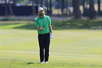 Thomas Aiken (RSA) prepares to play his 2nd shot on the 18th hole during Saturday's Round 3 of the Porsche European Open 2018 held at Green Eagle Golf Courses, Hamburg Germany. 28th July 2018.<br /> Picture: Eoin Clarke | Golffile<br /> <br /> <br /> All photos usage must carry mandatory copyright credit (&copy; Golffile | Eoin Clarke)