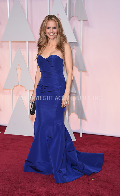 WWW.ACEPIXS.COM<br /> <br /> February 22 2015, Los Angeles Ca.<br /> <br /> Actress Kelly Preston arriving at the 87 th Annual Academy Awards at the Hollywood and Highland center on February 22 2015 in Hollywood CA.<br /> <br /> <br /> Please byline: Z15/ACE Pictures<br /> <br /> ACE Pictures, Inc.<br /> www.acepixs.com<br /> Email: info@acepixs.com<br /> Tel: 646 769 0430