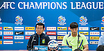 Jeonbuk Hyundai Motors coach Choi Kang-hee and goalkeeper Kwoun Sun-tae attend press conference ahead of the 2015 AFC Champions League Quarter-Final 1st Leg match between Jeonbuk Hyundai Motors and Gamba Osaka on August 25, 2015 at the Jeonju World Cup Stadium, in Jeonju, Korea Republic. Photo by Xaume Olleros /  Power Sport Images