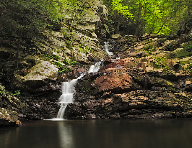 Low flow can often make a waterfall more interesting.