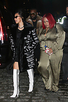 NEW YORK, NY - FEBRUARY 8: Cardi B  arrives at Jeremy Scott Fashion Show at New York Fashion Week at Spring Studios on February 8, 2018 in New York City. <br /> CAP/MPI99<br /> &copy;MPI99/Capital Pictures