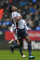 Bolton Wanderers' Sammy Ameobi tracking a ball in the air<br /> <br /> Photographer Andrew Kearns/CameraSport<br /> <br /> The EFL Sky Bet Championship - Bolton Wanderers v Fulham - Saturday 10th February 2018 - Macron Stadium - Bolton<br /> <br /> World Copyright &copy; 2018 CameraSport. All rights reserved. 43 Linden Ave. Countesthorpe. Leicester. England. LE8 5PG - Tel: +44 (0) 116 277 4147 - admin@camerasport.com - www.camerasport.com