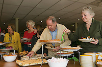 Hilversum, The Netherlands, 05.03.2014. NOVK ,National Indoor Veterans Championships of 2014, midday snacks, <br /> Photo:Tennisimages/Henk Koster