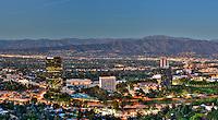 San Fernando Valley, Sunset, Dusk, Verdugo Hills, Panorama, CA