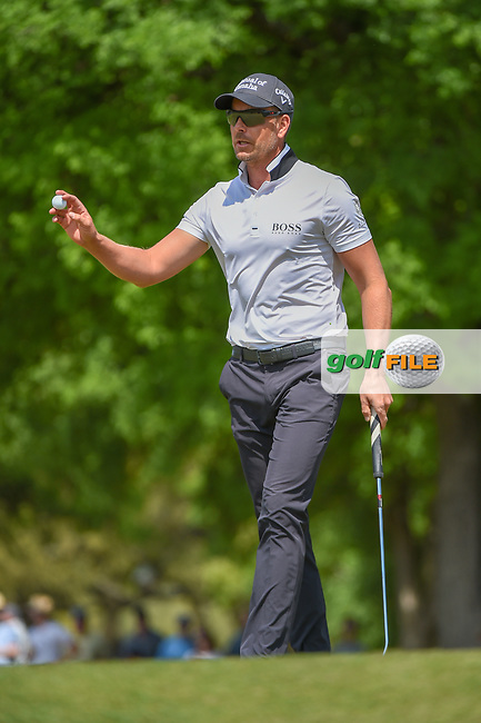 Henrik Stenson (SWE) after sinking his putt on 1 during day 1 of the WGC Dell Match Play, at the Austin Country Club, Austin, Texas, USA. 3/27/2019.<br /> Picture: Golffile | Ken Murray<br /> <br /> <br /> All photo usage must carry mandatory copyright credit (© Golffile | Ken Murray)