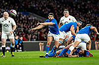 Tito Tebaldi of Italy during the Guinness Six Nations match between England and Italy at Twickenham Stadium on March 9th, 2019 in London, United Kingdom. Photo by Liam McAvoy.