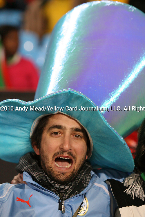 16 JUN 2010: Uruguay fan. The South Africa National Team lost 0-3 to the Uruguay National Team at Loftus Versfeld Stadium in Tshwane/Pretoria, South Africa in a 2010 FIFA World Cup Group A match.