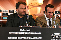 Eddie Hearn during a Press Conference at the Landmark Hotel on 11th October 2017