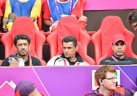 July 26, 2012..UAE Head Coach Redha Mahdi and assistant coach. UAE vs Uruguay Football match during 2012 Olympic Games at Old Trafford in Manchester, England. Uruguay defeat United Arab Emirates 2-1...
