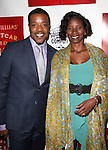 Russell Hornsby & Denise Hornsby.attending the Broadway Opening Night Performance of 'A Streetcar Named Desire' at the Broadhurst Theatre on 4/22/2012 in New York City.