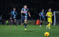 Michael Harriman of Wycombe Wanderers chases down the ball during the Sky Bet League 2 match between Wycombe Wanderers and Oxford United at Adams Park, High Wycombe, England on 19 December 2015. Photo by Andy Rowland.