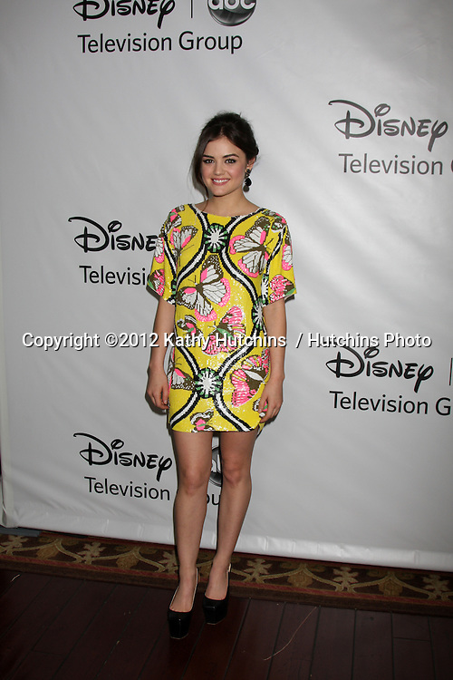 LOS ANGELES - JAN 10:  Lucy Hale arrives at the ABC TCA Party Winter 2012 at Langham Huntington Hotel on January 10, 2012 in Pasadena, CA