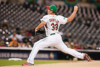 16 March 2009: #33 Jorge Campillo of Mexico pitches against of Cuba during the 2009 World Baseball Classic Pool 1 game 3 at Petco Park in San Diego, California, USA. Cuba wins 7-4 over Mexico.