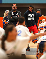 Rob Adams and Andre Roberson.<br /> Steven Adams Basketball Camp, Bruce Pullman Arena, Auckland. Monday 28 August 2017. Photo: Simon Watts/www.bwmedia.co.nz
