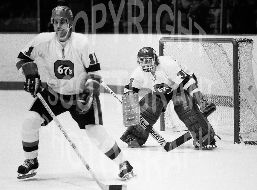 Paul Minaker Ottawa 67's 1979. Photo Scott Grant