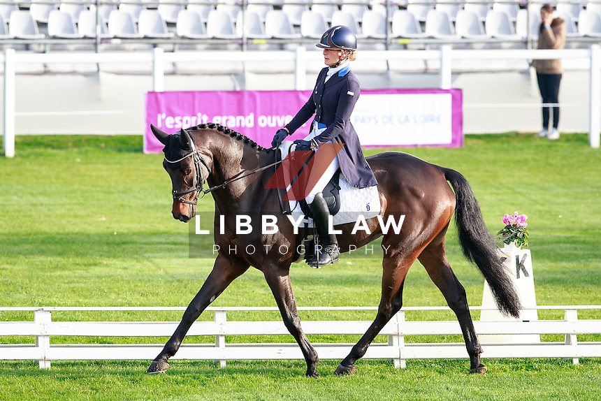 BEL-Lara De Liedekerke-Meier rides Ducati D'Arville (Interim-2ND) during the CCI1*6YO Dressage at 2016 Mondial du Lion FEI World Breeding Eventing Championships for Young Horses. Thursday  20 October. Copyright Photo: Libby Law Photography