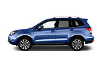 Car driver side profile view of a 2017 Subaru Forester Premium 5 Door SUV