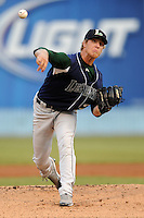 Lexington Legends starting pitcher Mike Foltynewicz #25 delivers a pitch during a game against the Asheville Tourists at McCormick Field on May 7, 2012 in Asheville, North Carolina . The Tourists defeated the Legends 4-3. (Tony Farlow/Four Seam Images).