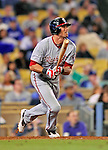 22 July 2011: Washington Nationals outfielder Rick Ankiel in action against the Los Angeles Dodgers at Dodger Stadium in Los Angeles, California. The Nationals defeated the Dodgers 7-2 in their first meeting of the 2011 season. Mandatory Credit: Ed Wolfstein Photo