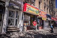 Jamaican cuisine restaurant  in Harlem in New York on Saturday, August 24, 2013. (© Richard B. Levine)