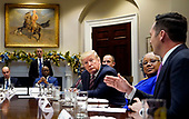 United States President Donald J. Trump participates in a roundtable on small business and red tape reduction, at the White House in Washington, DC on Friday, December 6, 2019.<br /> Credit: Kevin Dietsch / Pool via CNP