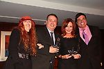 Jane Elissa and awards to Michael Caldwell and Jacklyn Zeman for their service and on rightMC CDale Badway - 30th Anniversary of the Jane Elissa Extravaganza to benefit The Jane Elissa Charitable Fund for Leukemia & Lymphoma Cancer, Broadway Cares & other charities on October 30. 2017 at the New York Marriott Marquis, New York, New York. (Photo by Sue Coflin/Max Photo)