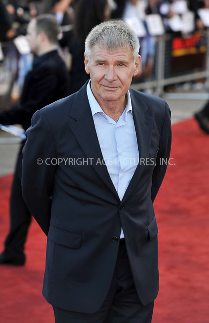 WWW.ACEPIXS.COM . . . . .  ..... . . . . US SALES ONLY . . . . .....August 11 2011, London....Actor Harrison Ford arriving at the 'Cowboys and Aliens' UK film premiere at the 02 Arena on August 11, 2011 in London, England.....Please byline: FAMOUS-ACE PICTURES... . . . .  ....Ace Pictures, Inc:  ..Tel: (212) 243-8787..e-mail: info@acepixs.com..web: http://www.acepixs.com