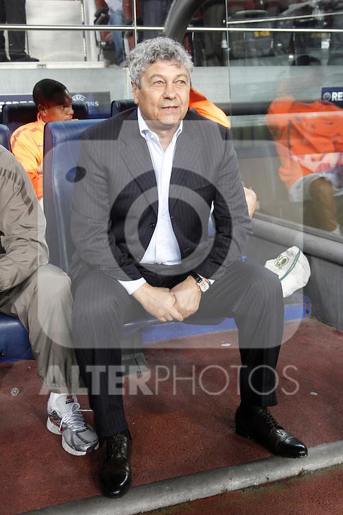 FC Shakhtar Donetsk's Mircea Lucescu during Champions League match on April, 6th 2011. ..Photo: Acero / Cebolla / ALFAQUI