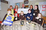 Gaelscoil Mhic Easmainn presents a Cheque for €929.67 to Dan Galvin of Kerry Hospice, proceeds of the Big Coffee Morning