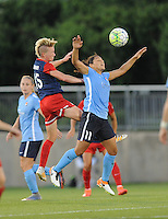 Boyds, MD - Saturday June 25, 2016: Joanna Lohman, Raquel Rodriguez during a United States National Women's Soccer League (NWSL) match between the Washington Spirit and Sky Blue FC at Maureen Hendricks Field, Maryland SoccerPlex.