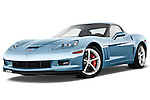 Low aggressive front three quarter view of a 2012 Chevrolet Corvette GS Coupe .