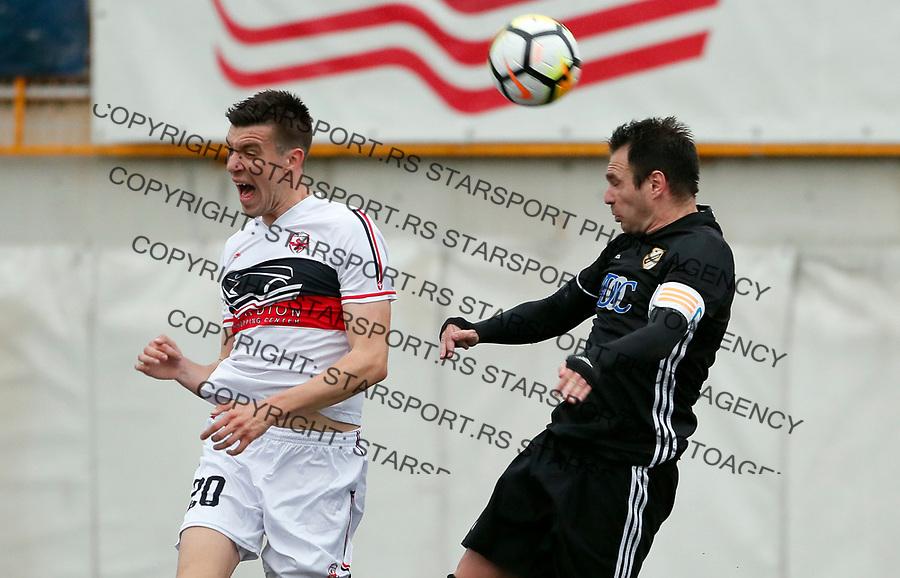 Andrija Lukovic i Nikola Drincic Vozdovac - Cukaricki super liga Srbije 5.4.1018. April 5. 2018. (credit image & photo: Pedja Milosavljevic / STARSPORT)