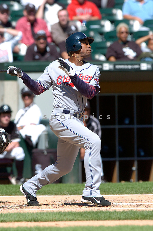 KENNY LOFTON, of the Cleveland Indians , in action during the Indians game against the  Chicago White Sox  in Chicago, IL on September 12, 2007...White Sox win 7-4..DAVID DUROCHIK / SPORTPICS.....
