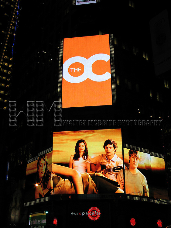 The Hit Fox Television show The O.C. has a giant new electronic billboard on Times Square in New York City..November 4, 2004.( Adam Brody ).© Walter McBride /